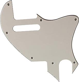 Golpeador para guitarra Fender US Tele F Hole Hybrid Telecaster Thinline conversión, 3 capas de color blanco.