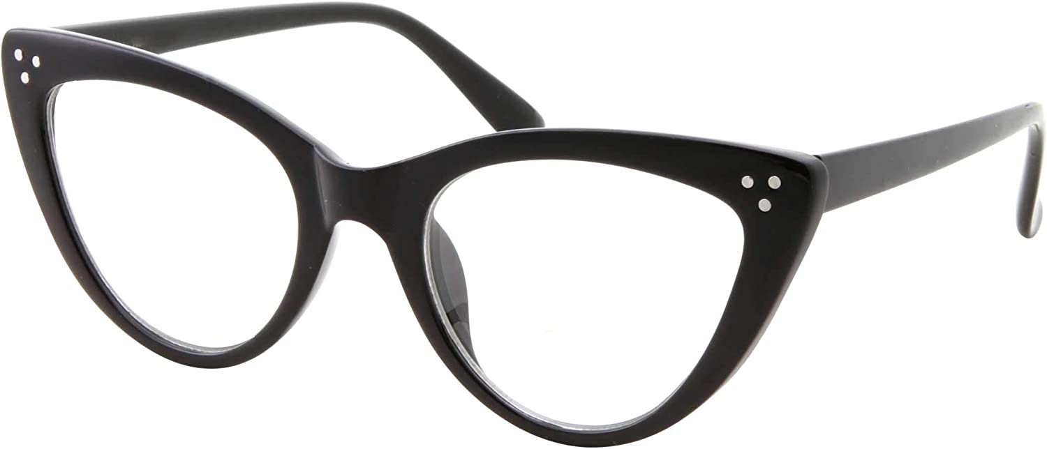 Womens Cateye Retro Clear Lens Glasses  Retro Nerd Vintage