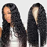 ISEE Hair Water Wave Lace Front Wigs Unprocessed Brazilian Virgin Human Hair Wig...
