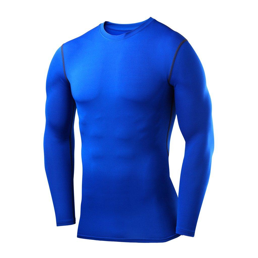PowerLayer Mens Compression Baselayer Top Long Sleeve Under Shirt Crew Neck