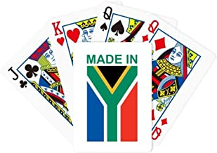 DIYthinker Made in South Africa Country Love Poker Playing Card Tabletop Board Game Gift