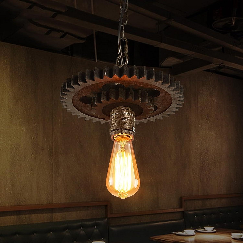 Gute Kronleuchter Retro Industrial Wind Personal Cafe Coffee Shop Bar Restaurant Restaurant Shop Kreativ Eisen Gear Kronleuchter (Farbe   Einzelkopf)
