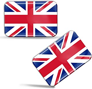 Biomar Labs® 2 x Aufkleber 3D Gel Silikon Stickers Großbritannien England UK Great..