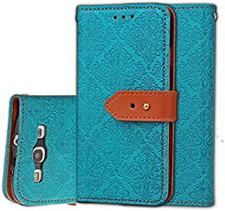Protective Case Compatible with Samsung Magnetic Closure European Style Mural Embossed PU Leather Flip Wallet Case with Stand and Card Slot Compatible Samsung Galaxy S3 I9300 Phone case