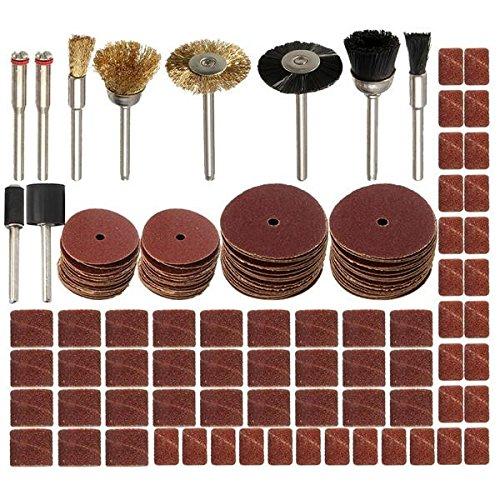 KUNSE 150 stks 1/8 Inch Schacht Roterende Gereedschap Accessoires Set voor Dremel Schuren Polijstgereedschap