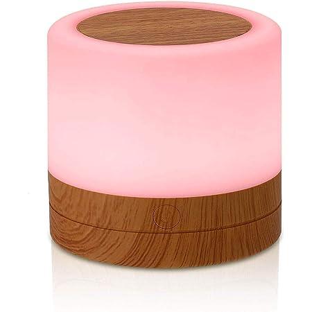 MIAROZ Veilleuse LED, Lampe Nuit Tactile avec 13 Couleurs Changeantes, Lampe de Table Rechargeable avec Lumière Blanche Chaude pour Chambre à Coucher, Salle de Bébé et