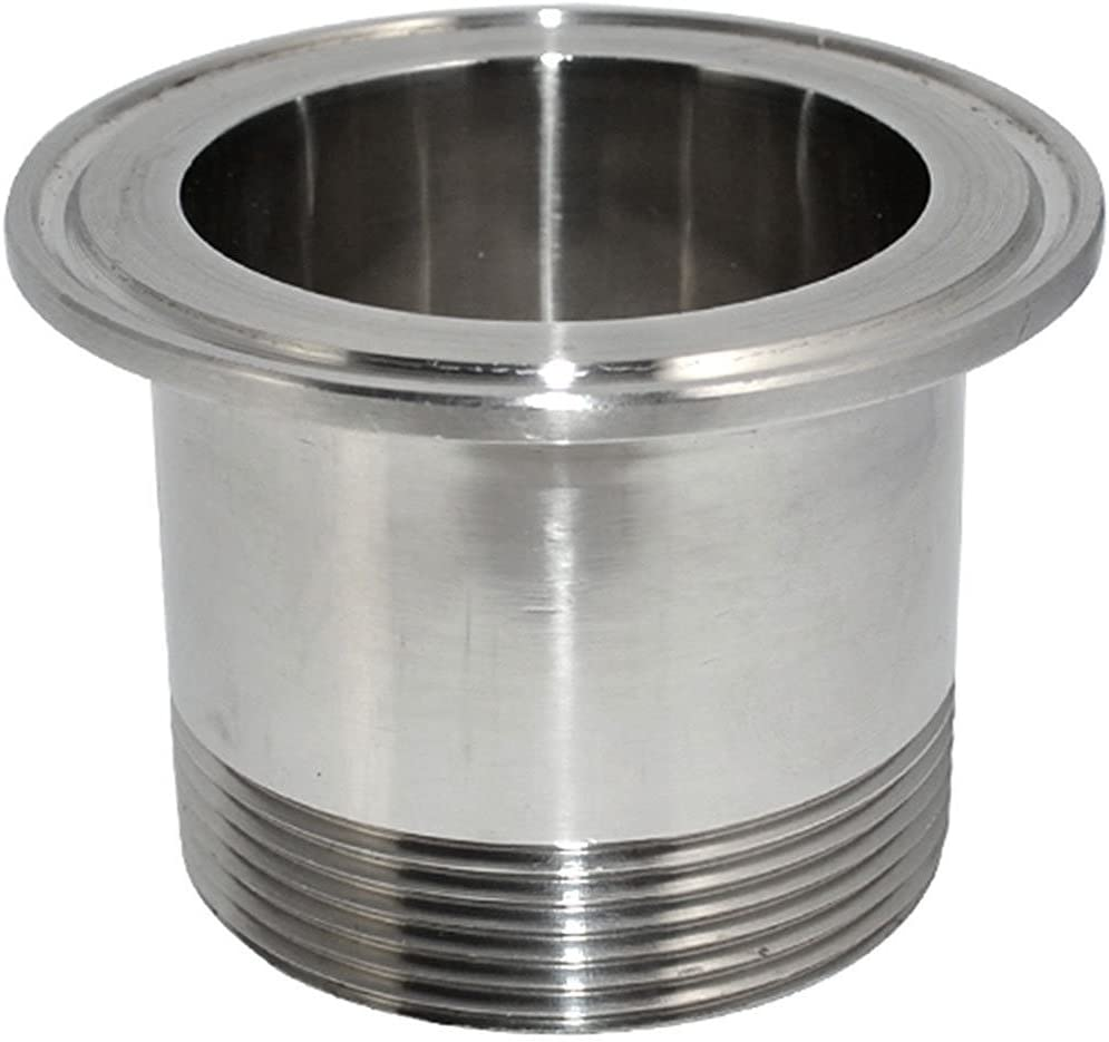 Juijnkt Sanitary Male Threaded Ferrule Pipe Fitting Tri Clamp Type Stainless Steel SS304 DN15 DN20 DN25 DN32 DN20