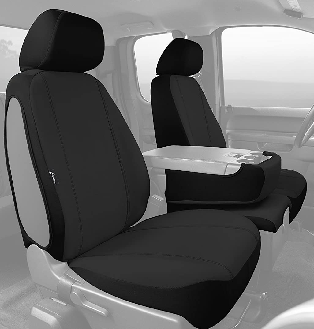 Fia SP88-31 BLACK Custom Fit Front Seat Cover Split Seat 40/20/40 - Poly-Cotton, (Black)