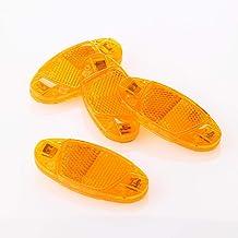 FISCHER Fietspaken reflectorenset | kattenogen | 4 stuks | StVZO goedgekeurd | Kleur: geel