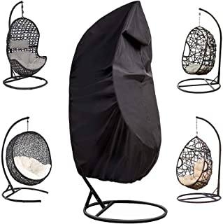 """POMER Outdoor Egg Chair Cover, Waterproof 75"""" H x 45"""" W Hanging Chair Cover for Outdoor Single Seat Wicker Swing Egg Chair"""