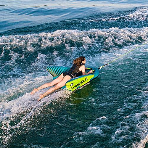MESLE Tube Set Cruzer mit Leine, 1 Person, Towable Fun-Tube, aufblasbarer Schlepp-Reifen zum Ziehen, für Kinder & Erwachsene, Wasser-Sport Schlepp-Ring, für Motor-Boot & Jet-Ski, Farbe:Petrol