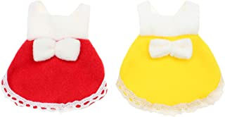 Alfie Pet - Jayden 2-Piece Set Dresses for Small Animals Like Mouse, Chinchilla, Rat, Gerbil and Dwarf Hamster - Color: Re...