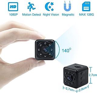 Camara Espia Oculta Mini Videocámara TANGMI 1080P HD Cámara de Vigilancia Detección de Movimiento Visión Nocturna IR para el Hogar Oficina Coche Abejón