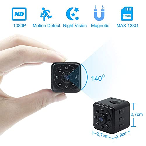 Camara Espia Oculta Mini Videocámara TANGMI 1080P HD Cámara de Vigilancia Detección de Movimiento Visión Nocturna