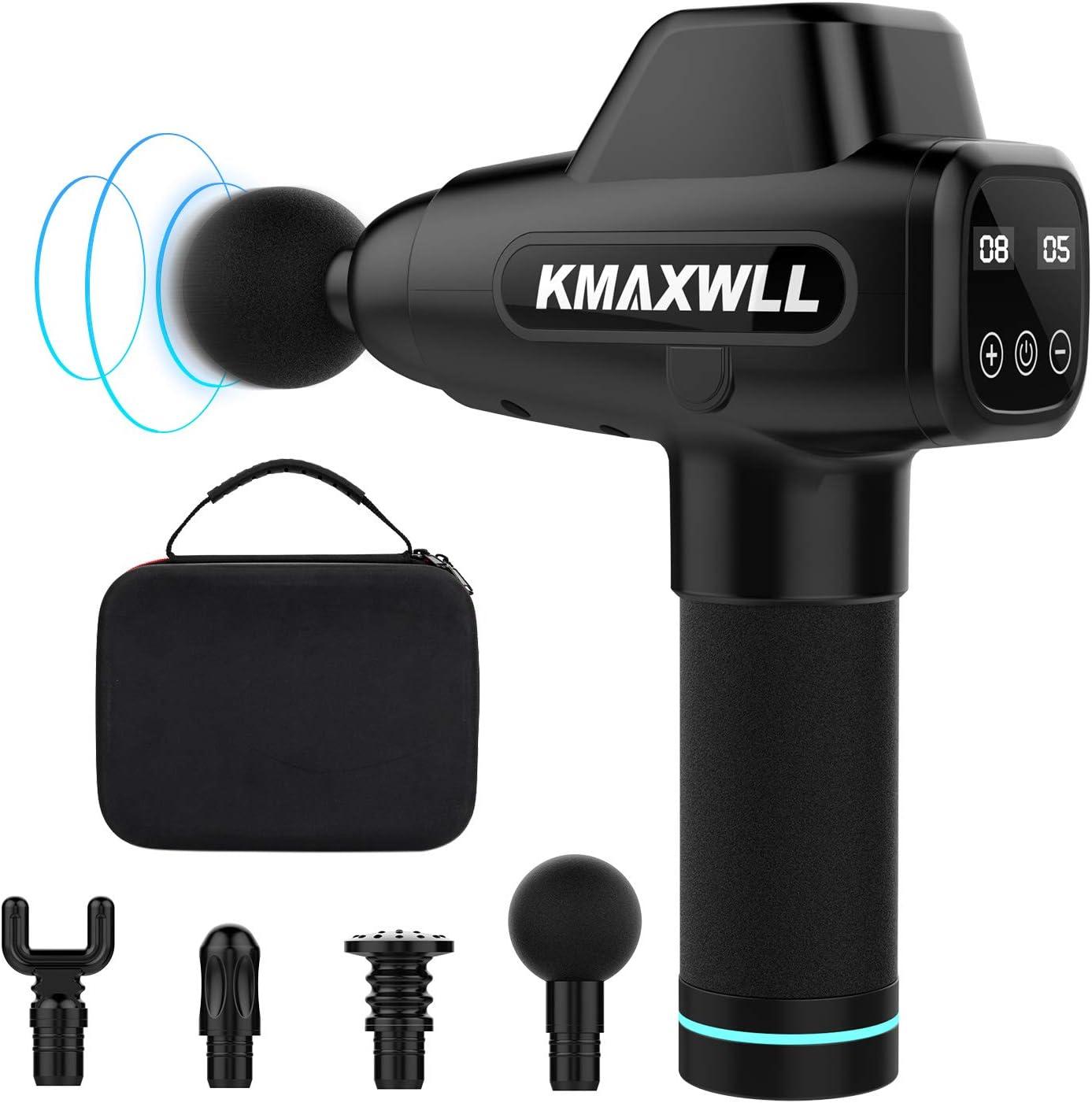 Kmaxwll 2400mAh 20 Speeds Deep Tissue Massage Gun $29.97 Coupon