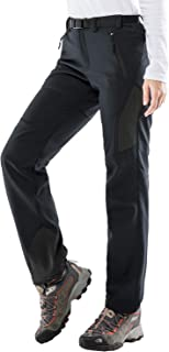featured product MIER Women's Warm Softshell Pants Fleece Lined Winter Pants Water Resistant Hiking Pants,  4 Zipper Pockets,  Black