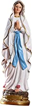 sharprepublic Catholic Statue of Our Lady of Lourdes Painted Resin Ornament About 30 cm High