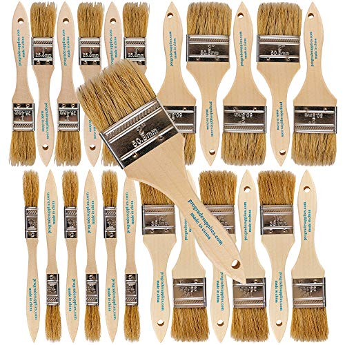 Pro Grade - Chip Paint Brushes - 24 Piece Variety Chip Brush Set