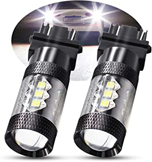 Boodlied Extremely Bright 3030 Chipsets T25 3056 3156 3057 3157 4157 LED Bulbs with Projector,  Xenon Super White 6000~6500K 960LM.2-Pack.
