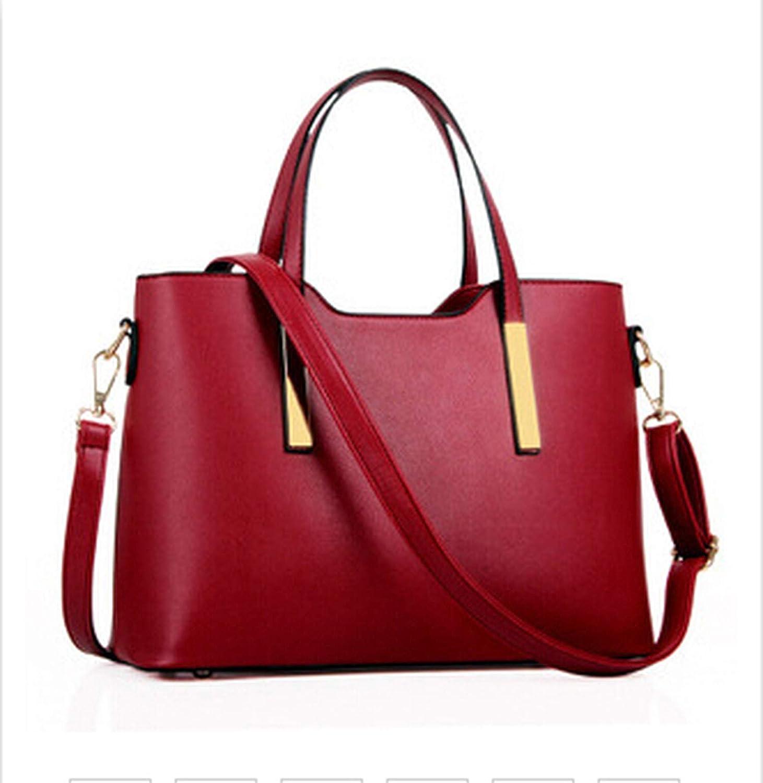 100% leather Women 2018 new bags female stereotypes fashion handbag Handbag,Burgundy