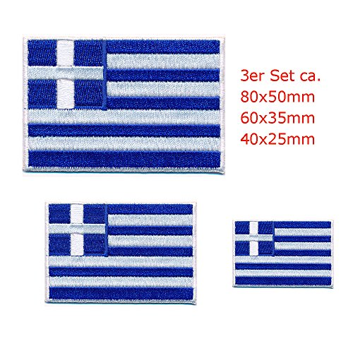 3 Griekse vlaggen Athen Greece vlaggen patch patch patch opstrijkmachine 0647