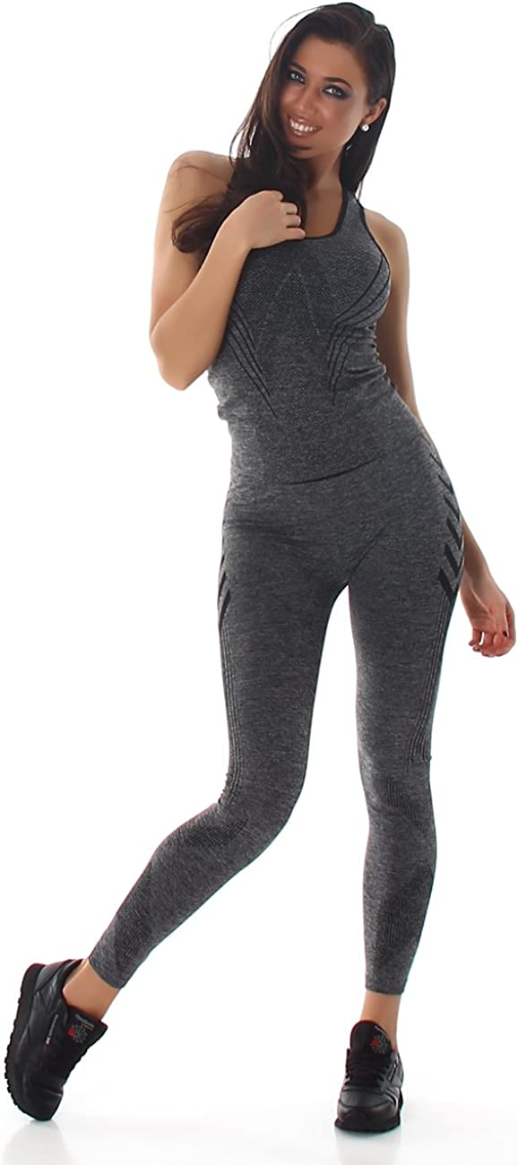 Sfit Damen Sportbekleidung 2 St/ück Outfits Sport Wear BH Top Yoga Leggings Sportanzug Sport Wear Casual Fitness Sportanzug