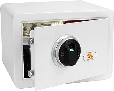 TIGERKING Fingerprint Security Digital Safe Box-White