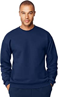Hanes Menâx20AC;s Ultimate Cotton Heavyweight Crewneck Sweatshirt, Navy