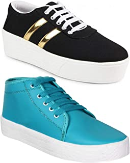 Axter Women Multicolour Latest Collection Sneakers Shoes- Pack of 2 (Combo-(2)-1044-1161)