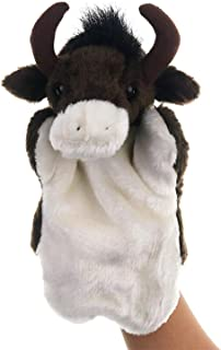 Plush Cow Bull Hand Puppets Stuffed Animals Toys for Imaginative Pretend Play Stocking Storytelling