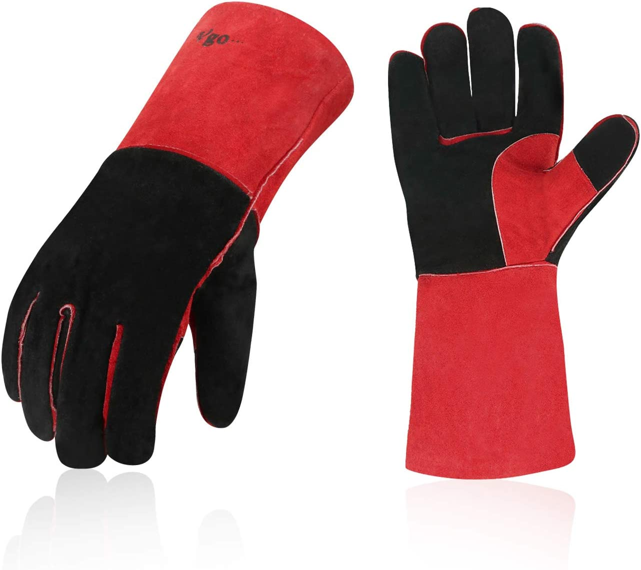 Vgo 2-Pairs Cow Split Leather Welding Challenge the lowest price Oven Fi Grill For Max 62% OFF Gloves