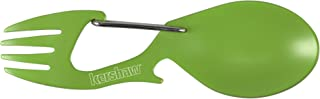 Kershaw Ration Multi Tool Spork, Stainless Steel Spoon, Fork, Carabiner and Bottle Opener, Regular and XL Sizes