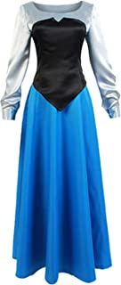 The Little Mermaid Ariel Cosplay Costume Princess Party Dress Ball Gown Outfit