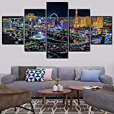 5 Leinwand Gemälde 5 Stück Stadt Landschaft Gemälde Leinwand HD-Drucke Modulare Bilder Wandkunst Home Poster