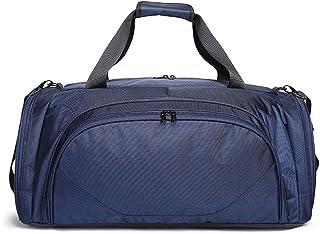 KTYXDE Portable Travel Bag Waterproof Polyester Oxford Cloth Bag Shoulder Sports Fitness Bag, 61x30x28cm Travel Bag (Color : Blue)
