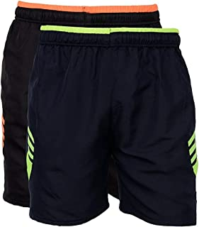 a77a1efee6461 Worivo Dobby Black Color Solid Print Casual Shorts for Men's (Pack of ...
