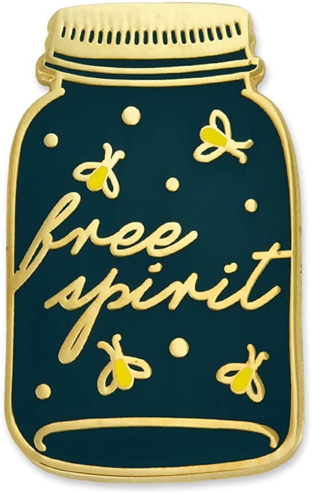 PinMart Free Spirit Firefly Mason Jar Nature Lover Cute Enamel Lapel Pin