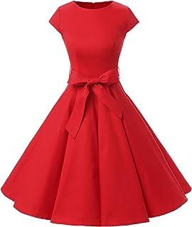 0f8080bd2215 Dressystar Women Vintage 1950s Retro Rockabilly Prom Dresses Cap-Sleeve