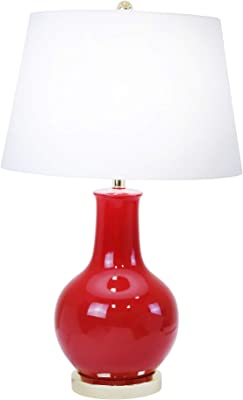 """Sagebrook Home 50062-05 Ceramic Table, Red, 28"""" Lamps"""