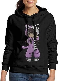 BITH Itsfunneh Womens Long Sleeve Sweater Black Cat Ear Hoodie Sweater