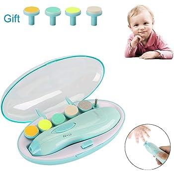 Megainvo 電動ネイルケア ベビー 爪やすり ネイルケアセット 赤ちゃん 爪みがき 大人にも 電動ネイルケア 低騒音 角質除去 甘皮処理 本体+交換用アタッチメント4個プレゼント
