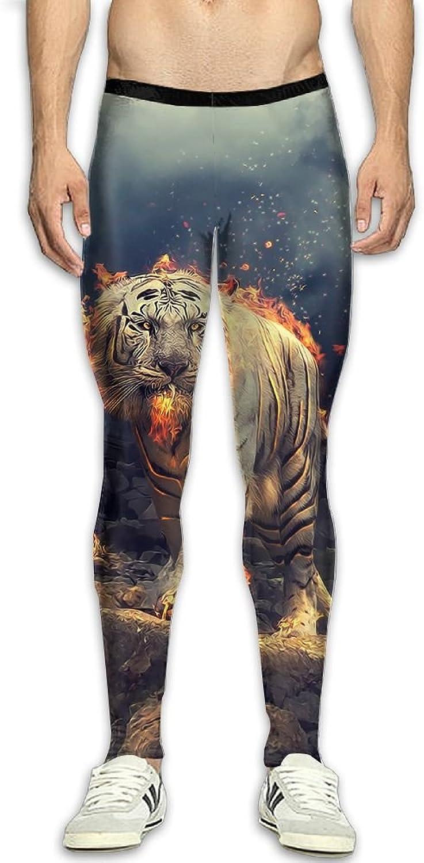 f70bccc3de Mens Cool Tiger Compression Sport Tight Leggings Elastic Waist Yoga ...