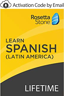 Rosetta Stone: Learn Spanish (Latin America) with Lifetime Access on iOS, Android, PC, and Mac [Activation Code by Email]