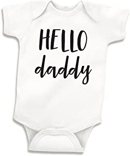 Bump and Beyond Designs Hello Daddy Surprise Pregnancy Announcement to Husband, Newborn Bodysuit