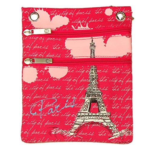 Pochette Passeport Paris Robin Ruth - Rose