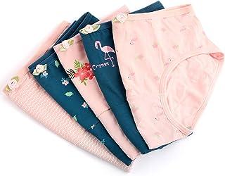 ショーツ レディース ハイウエス 純綿 5枚セット Natunohana ローウエスト パンツ パンティ 女性 学生 下着 福袋 花模様