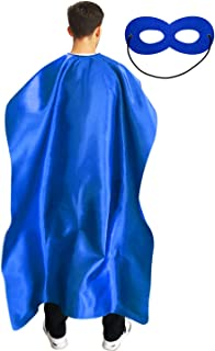 Adult Superhero Cape and Mask for Man and Woman - Halloween Party Vampire Capes Dress Up Superhero Costume