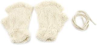 mymerlove SOFE Women Winter Claw Gloves Fluffy Bear Paw Mittens Lady Half Finger Gloves