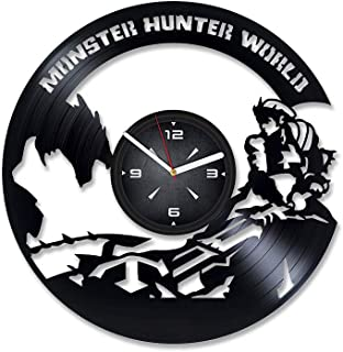 Monster Hunter World Vinyl Record Wall Clock. Decor for Bedroom, Living Room, Kids Room. Gift for Him or Her. Christmas, Birthday, Holiday, Housewarming Present.