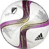 adidas Performance 2015 MLS Glider Soccer Ball, White/Flash Pink/Pink, Size 4